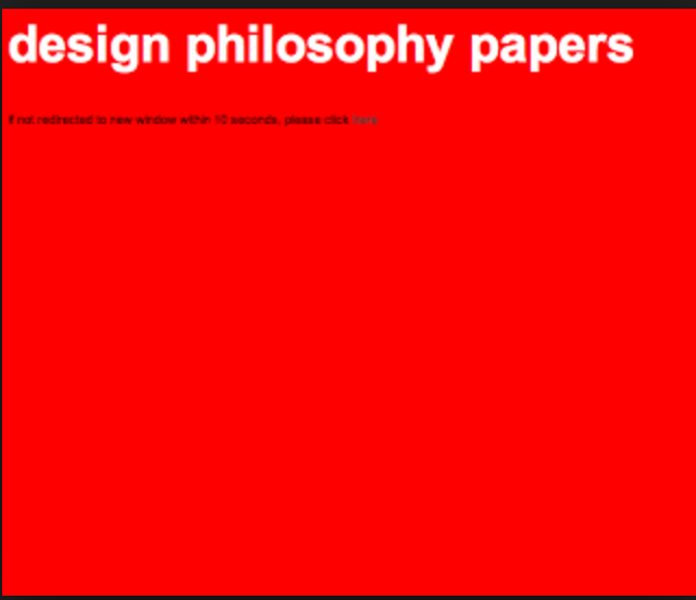 design philosophy papers (online)